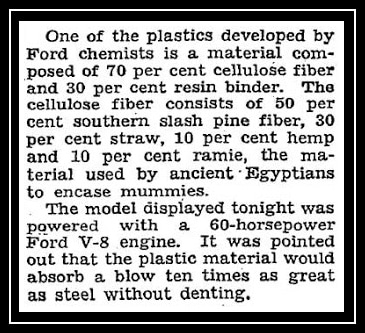 NYT Hemp Car Article 1941