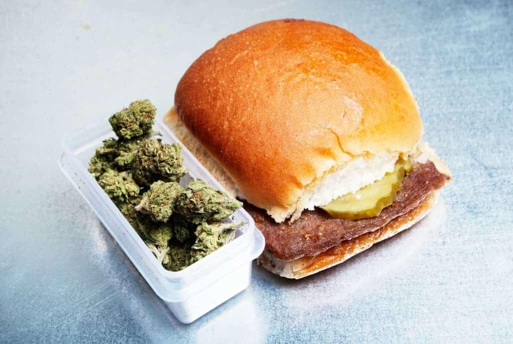 Marijuana and a burger