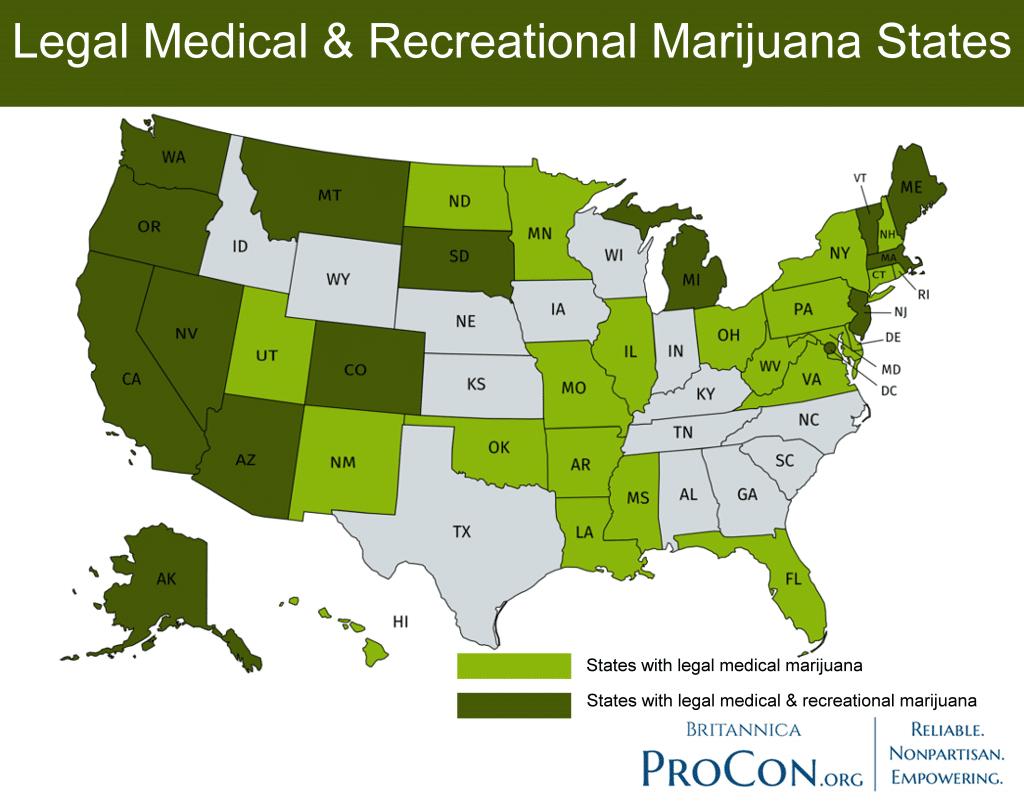 Marijuana State Laws 2020