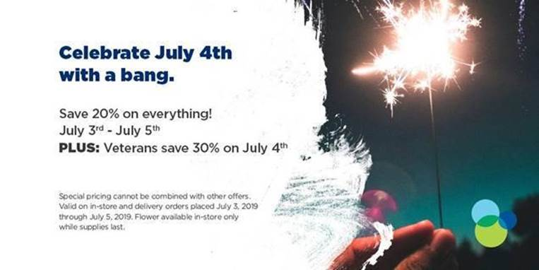 Liberty Health Sciences 4th of July Sales