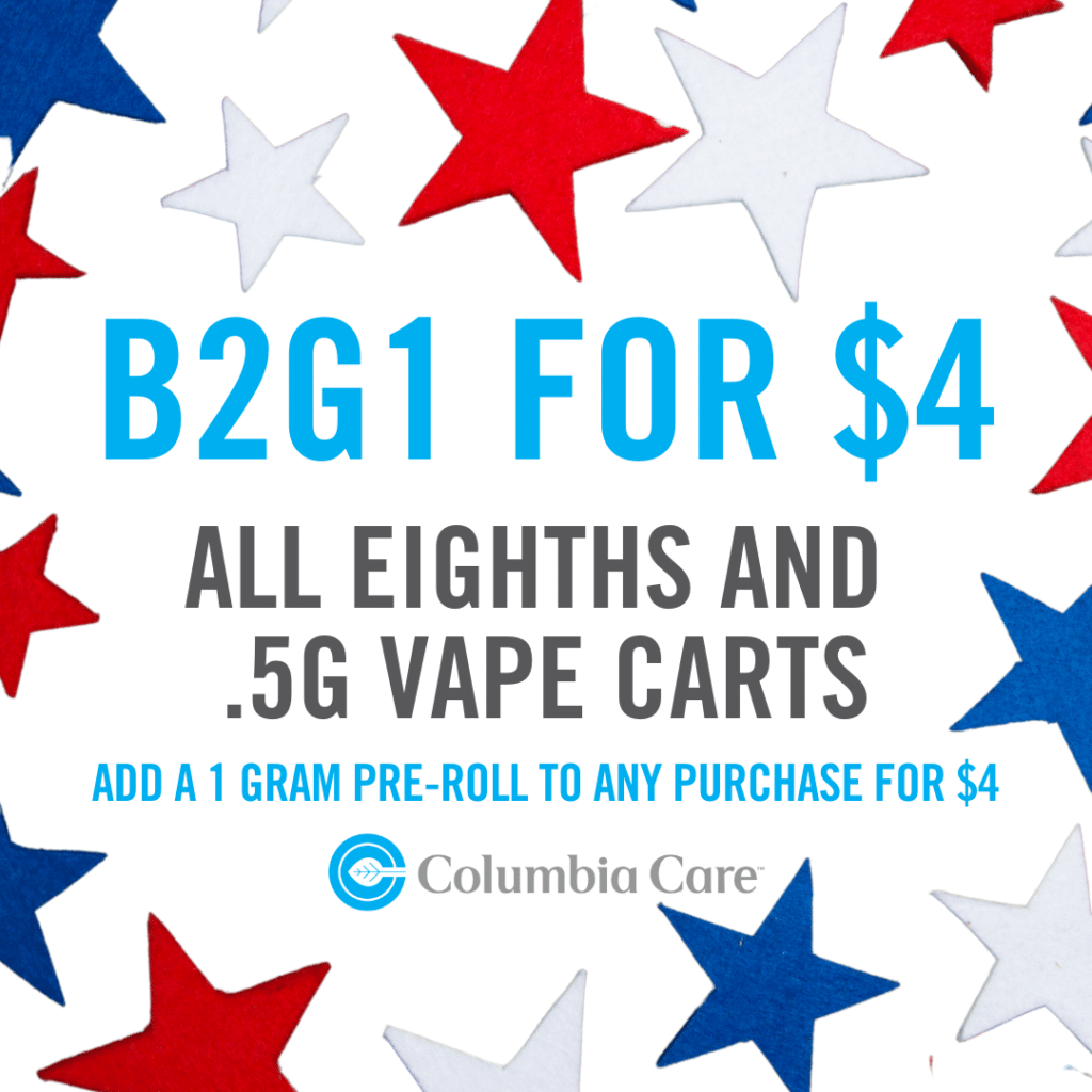 Columbia Care Promo 4th of July